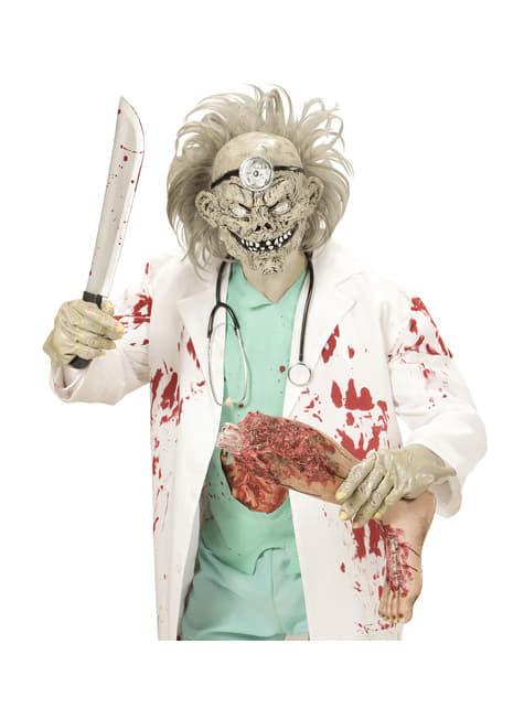Máscara con pelo de doctor zombie para adulto - para tu disfraz