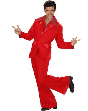 Rød diskodragt til mænd