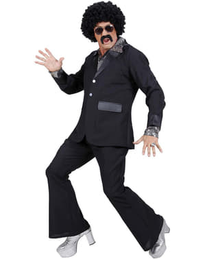 Man's Black Disco Suit