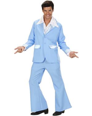 Abito disco azzurro per uomo