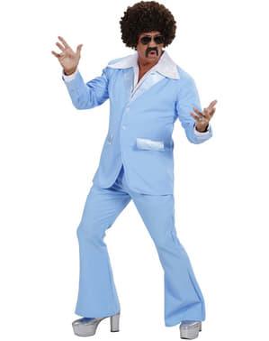 Costum disco turcoaz pentru bărbat