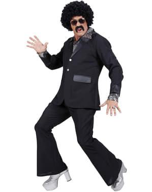 Чоловічий чорний костюм дискотеки