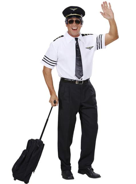 Fato de piloto viajante para homem tamanho grande