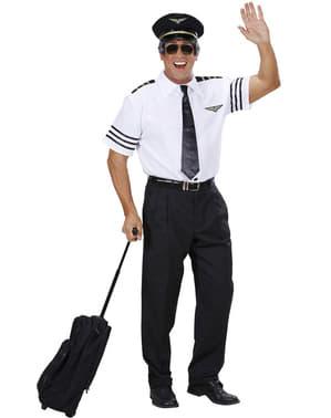 Disfraz de piloto viajero para hombre talla grande