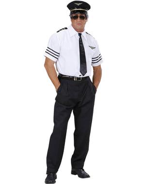 Pilot plus size kostume til mænd