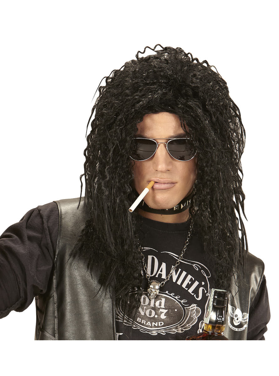 Perruque rockeur cheveux longs homme. Livraison
