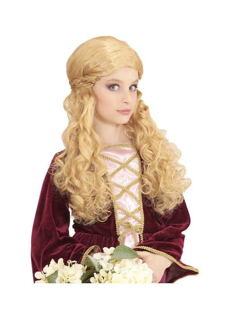 Peluca de princesa rubia para niña - para tu disfraz