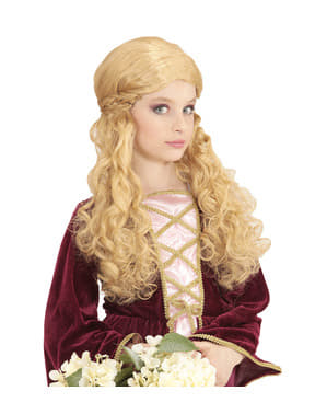 Blond prinsesseparyk til piger
