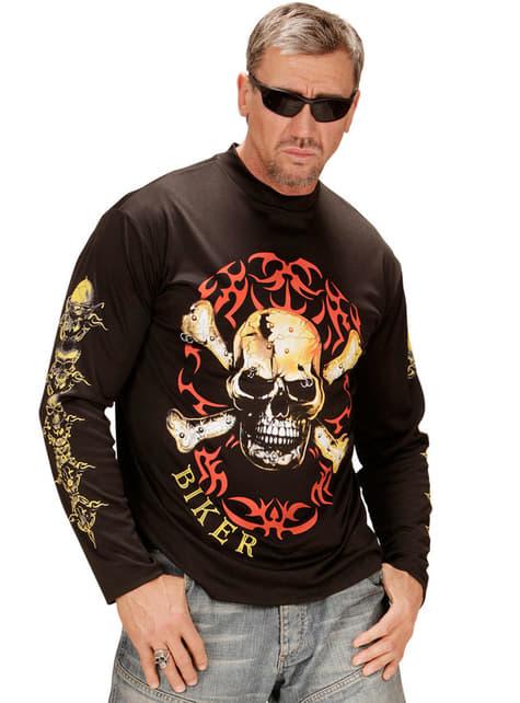 Ekstra Stor Motorsyklisk T-Skjorte for Menn
