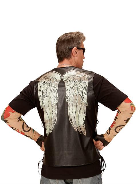 Chaleco de motorista con alas para hombre - traje