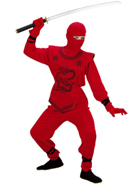 Disfraz de ninja dragón rojo para niño