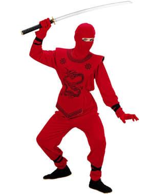 Chlapecký kostým dračí ninja červený