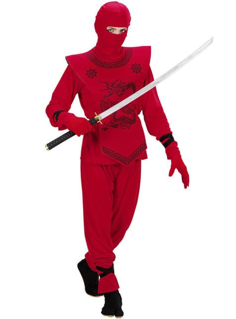 Disfraz de ninja dragón rojo para niño - infantil