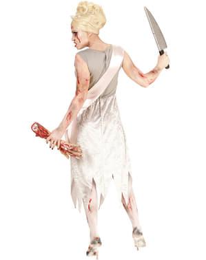 Disfraz de Miss Mundo zombie para mujer