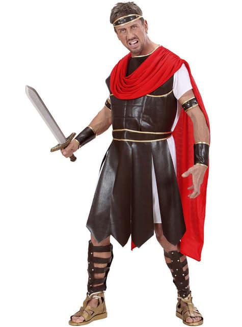 Disfraz de guerrero de la antigua Grecia para hombre talla grande