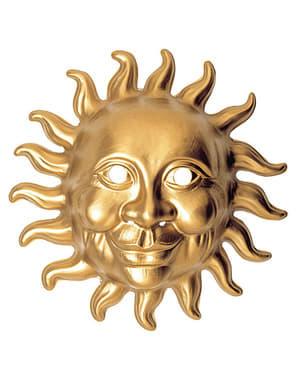 Máscara de sol dorado