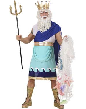 Disfraz de Dios del mar Neptuno para hombre talla grande