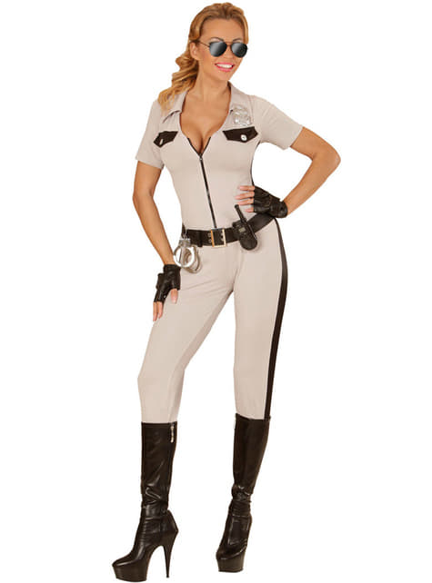 Disfraz de policía de tráfico sexy para mujer - mujer