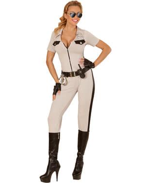 Costum de polițistă de trafic sexy pentru femeie