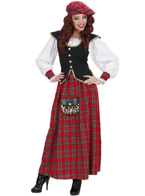 Disfraz de escocesa elegante para mujer