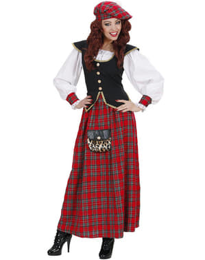 Woman's Elegant Scottish Costume