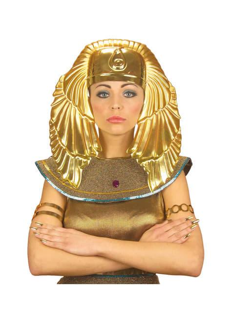 Tocado de egipcio dorado para hombre - para tu disfraz