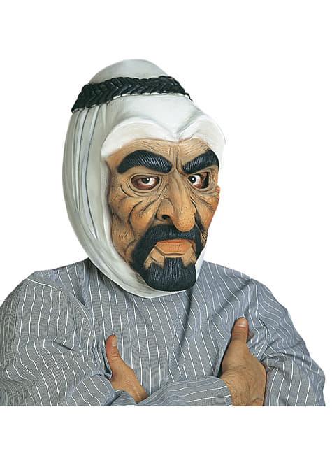 Máscara de jeque árabe para hombre