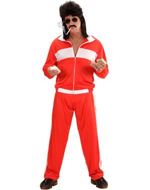 Disfraz de deportista rojo para hombre