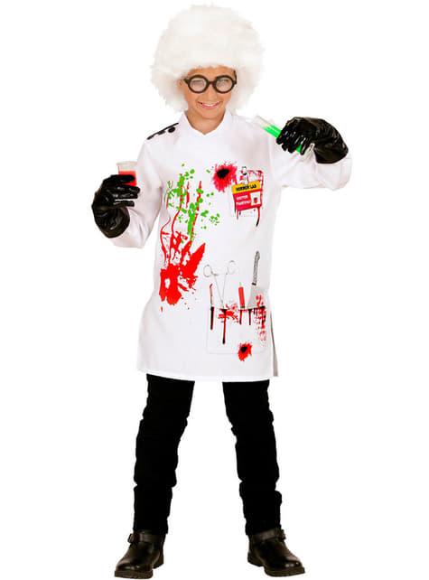 Fato de cientista louco para menino
