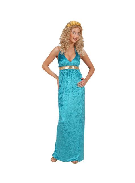 Disfraz de reina de Atlantis para mujer talla grande