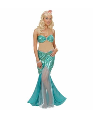 Sensuele zeemeermin kostuum voor vrouw