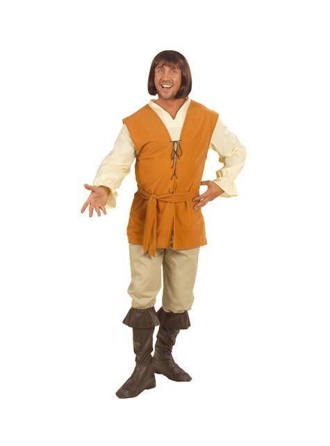 Middeleeuwse dichter kostuum voor mannen grote maat