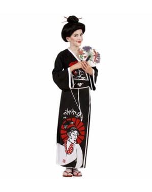 Дівчина в чарівній гейші костюм