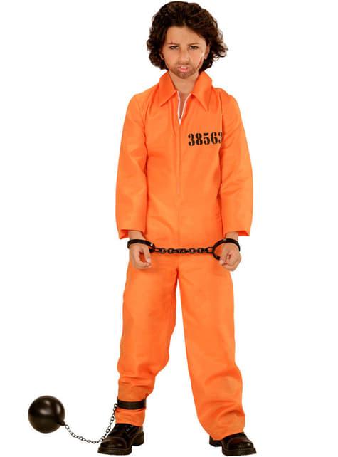 Arrestert Forbryter Kostyme Gutt