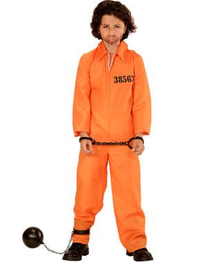 Costume carcerato arancione per bambino
