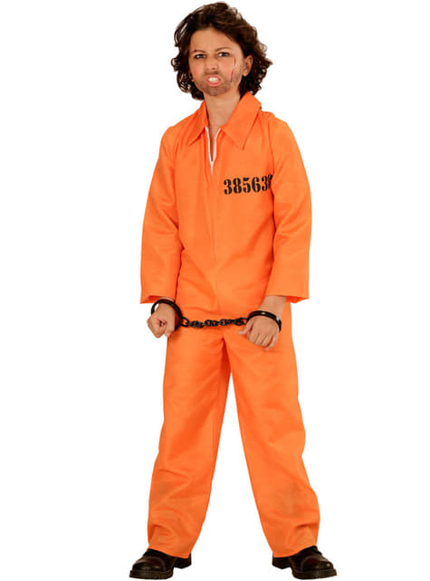 Boy's Detained Delinquent Costume