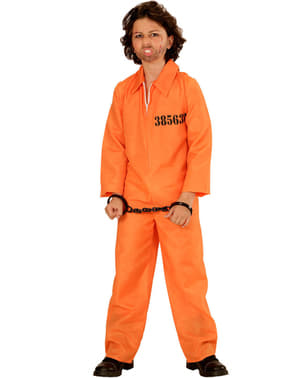Fato de criminoso detido para menino