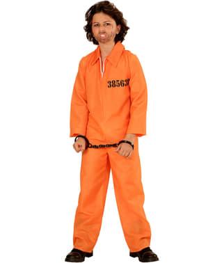 Gearresteerde delinquent kostuum voor jongens