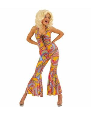 Disfraz de discotequera años 70 para mujer