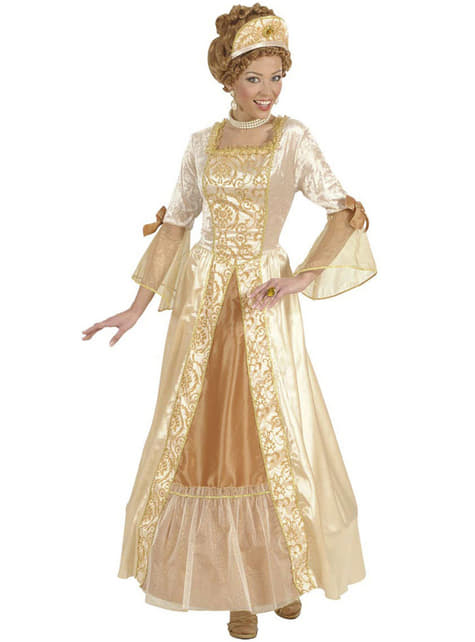 Disfraz de princesa dorada de cuento para mujer