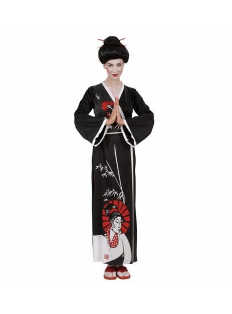 Maskeraddräkt geisha söt för henne