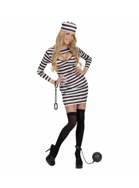 Woman's Delinquent Behind Bars Costume