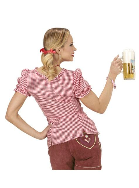 Camisa de Oktoberfest a cuadros para mujer - mujer