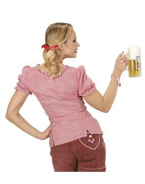 Oktoberfest ternet bluse til kvinder