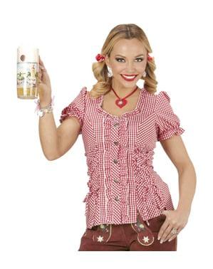 Camisa de Oktoberfest aos quadrados para mulher tamanho grande