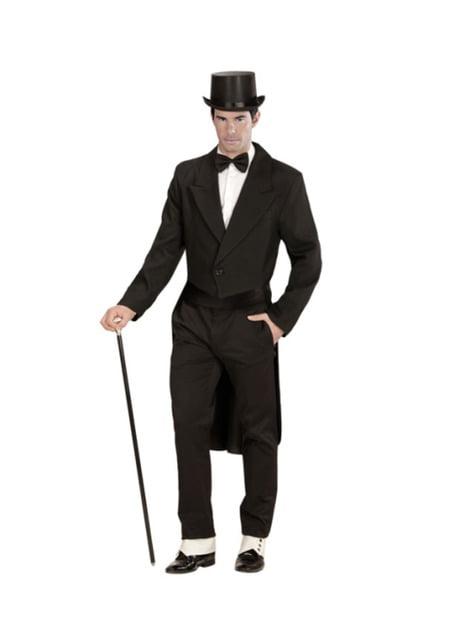 Disfraz de frac elegante para hombre talla grande