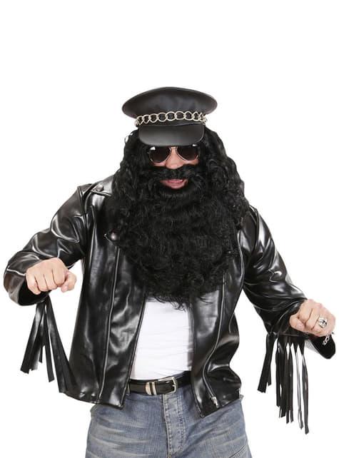 Chaqueta rockera para hombre talla grande - traje