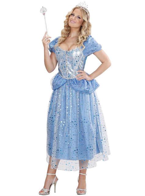 Disfraz de hada azul sexy para mujer