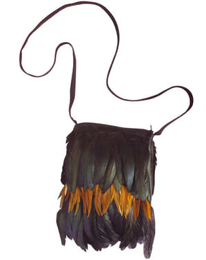 Adult's Indian Bag with Feathers