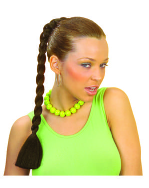 Extension cheveux tresse brune
